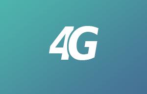 logo 4g blanc sur fond bleu et vert