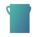 Logo de coupe verte