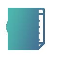 Logo facture vert et bleu