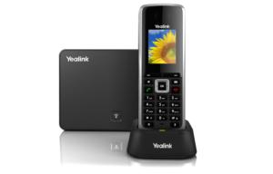 photo téléphone fixe noir et gris Yealink