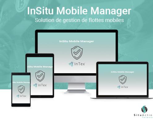 """""""Insitumobile manager"""" diversité d'écrans +fond vert"""